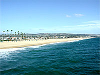 Newport Beach, CA shoreline